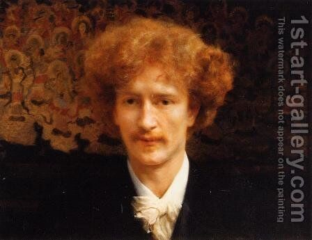 Portrait of Ignacy Jan Paderewski by Sir Lawrence Alma-Tadema - Reproduction Oil Painting