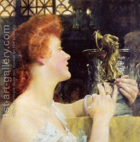 The Golden Hour by Sir Lawrence Alma-Tadema - Reproduction Oil Painting