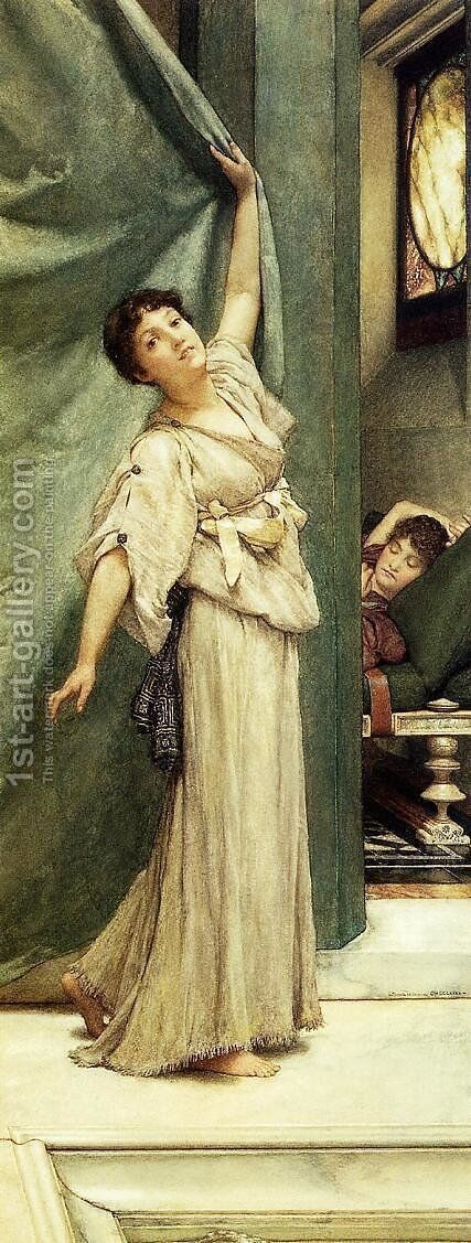 Midday Slumbers by Sir Lawrence Alma-Tadema - Reproduction Oil Painting