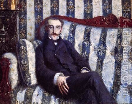 Portrait of a Man by Gustave Caillebotte - Reproduction Oil Painting