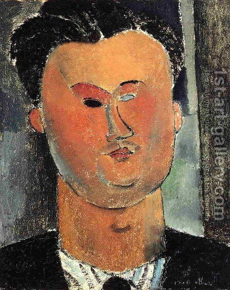 Pierre Reverdy by Amedeo Modigliani - Reproduction Oil Painting