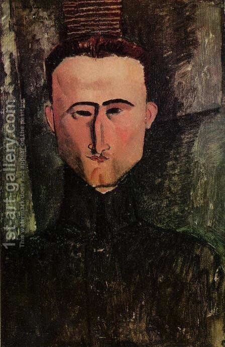 Andre Rouveyre by Amedeo Modigliani - Reproduction Oil Painting