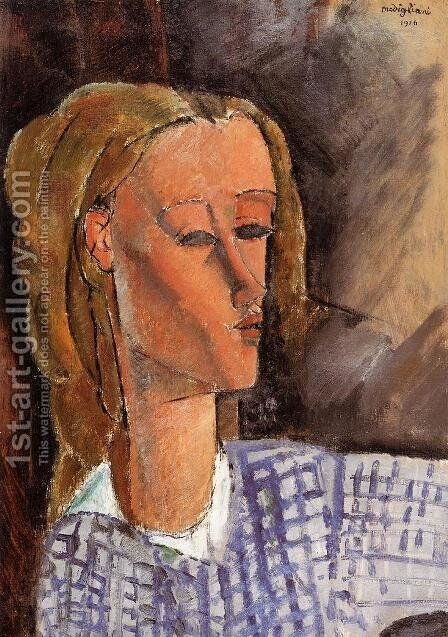 Portrait of Beatrice Hastings IV by Amedeo Modigliani - Reproduction Oil Painting