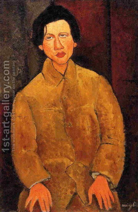 Chaim Soutine by Amedeo Modigliani - Reproduction Oil Painting