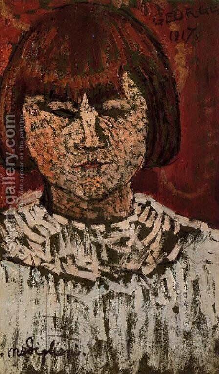 Portrait of George Ortiz by Amedeo Modigliani - Reproduction Oil Painting