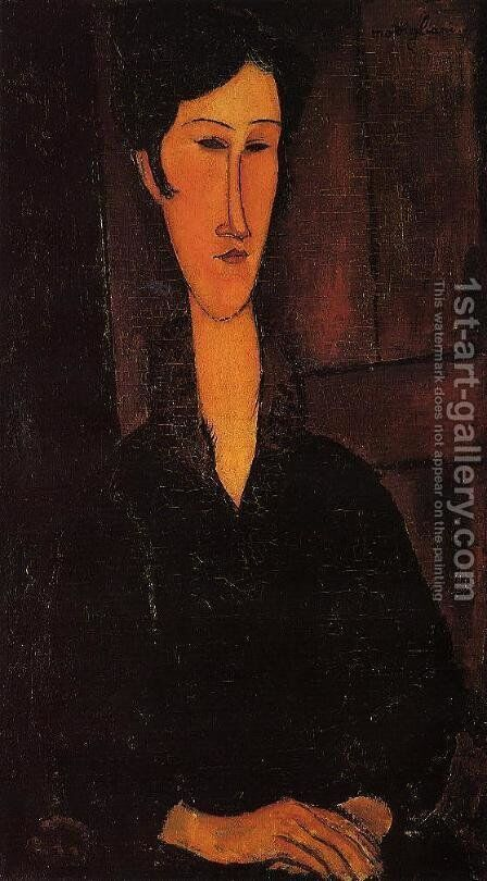 Portrait of Madame Zborowska by Amedeo Modigliani - Reproduction Oil Painting