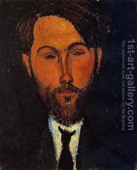 Portrait of Leopold Zborowski I by Amedeo Modigliani - Reproduction Oil Painting