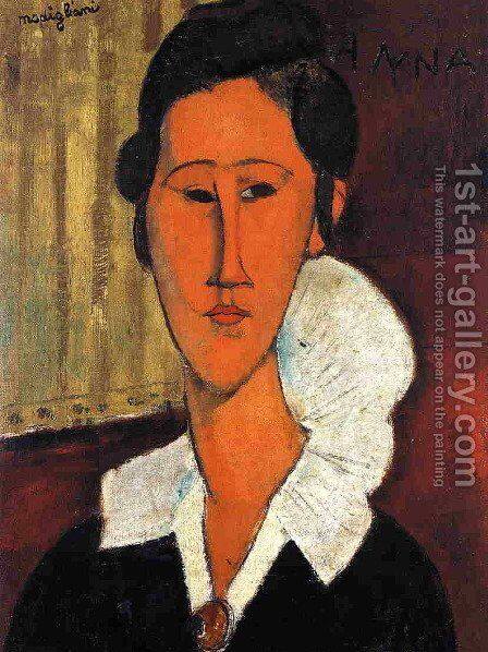 Anna (Hanka) Zborowska by Amedeo Modigliani - Reproduction Oil Painting