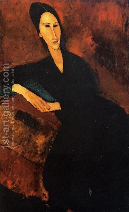 Portrait of Anna Zborowska by Amedeo Modigliani - Reproduction Oil Painting