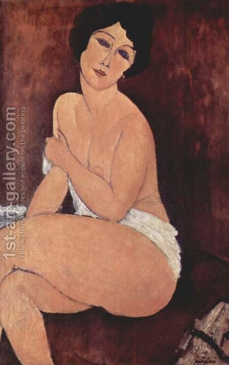 Seated Nude I 2 by Amedeo Modigliani - Reproduction Oil Painting