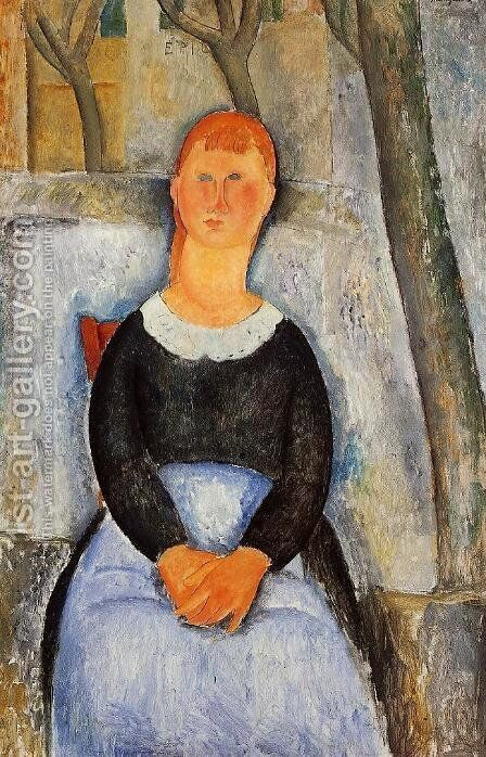 The Beautiful Grocer by Amedeo Modigliani - Reproduction Oil Painting