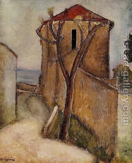 Landscape in the Midi by Amedeo Modigliani - Reproduction Oil Painting
