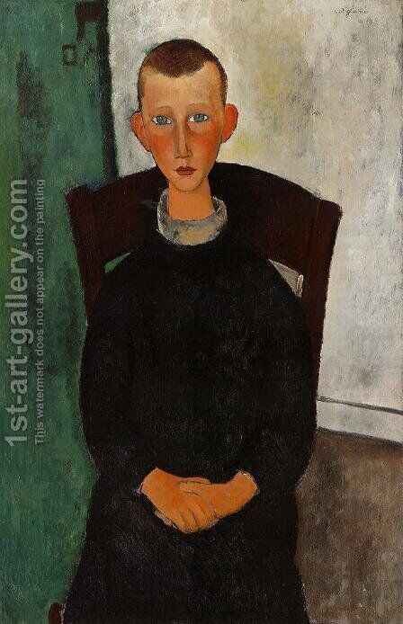 The Son of the Concierge by Amedeo Modigliani - Reproduction Oil Painting