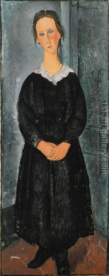 The Servant Girl by Amedeo Modigliani - Reproduction Oil Painting