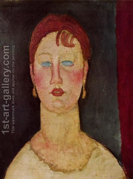 The Singer from Nice by Amedeo Modigliani - Reproduction Oil Painting