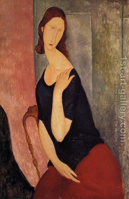 portrait de madame L by Amedeo Modigliani - Reproduction Oil Painting