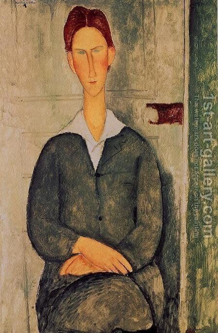Giovanotto dai Capelli Rosse by Amedeo Modigliani - Reproduction Oil Painting