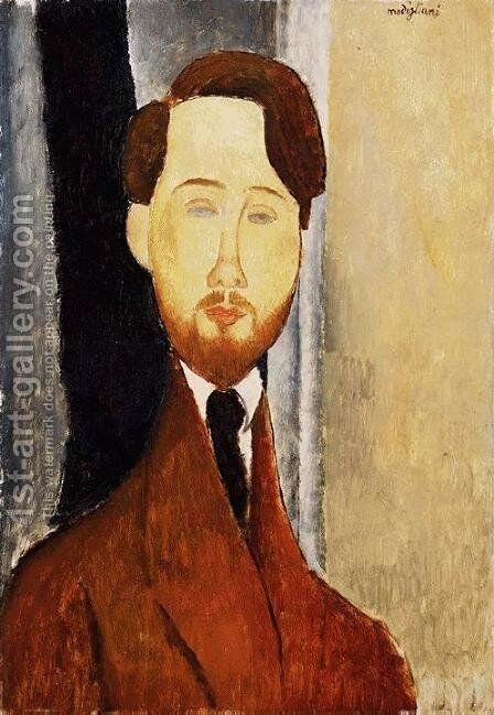 Portrait of Leopold Zborowski II by Amedeo Modigliani - Reproduction Oil Painting