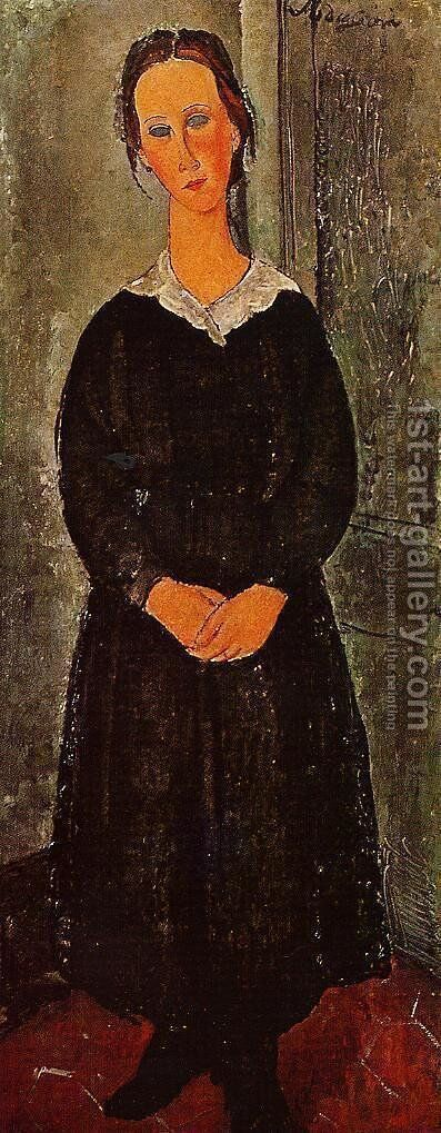 Young Servant Girl by Amedeo Modigliani - Reproduction Oil Painting