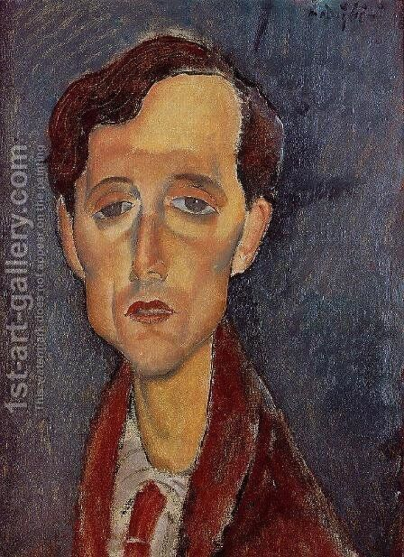 Frans Hellens by Amedeo Modigliani - Reproduction Oil Painting