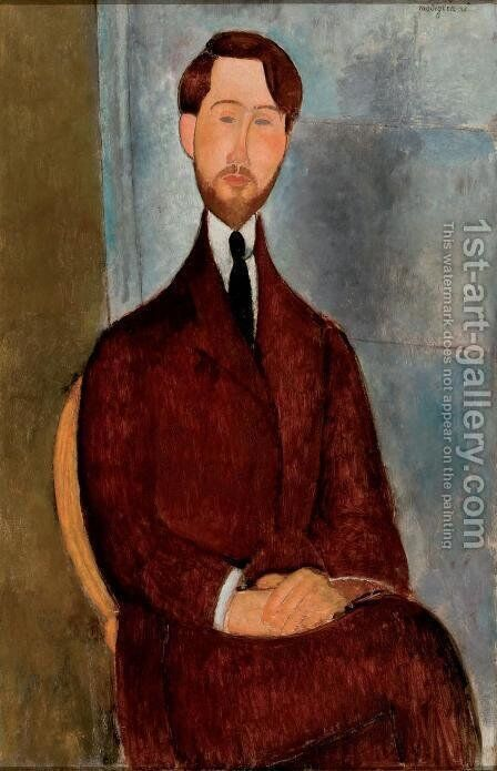 Leopold Zborowski I by Amedeo Modigliani - Reproduction Oil Painting