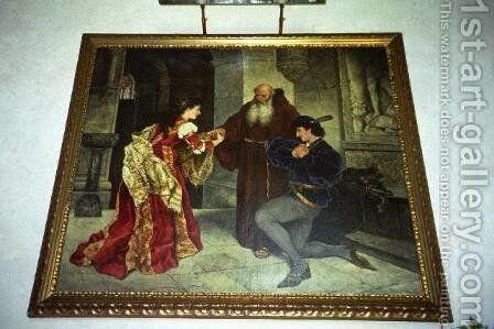 Romeo and Jolet by Carl Ludwig Friedrich Becker - Reproduction Oil Painting