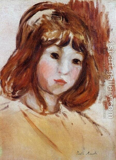 Portrait of a Young Girl by Berthe Morisot - Reproduction Oil Painting