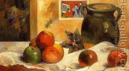 Still Life with Japanese Print I by Paul Gauguin - Reproduction Oil Painting