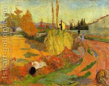 Landscape, Farmhouse in Arles by Paul Gauguin - Reproduction Oil Painting