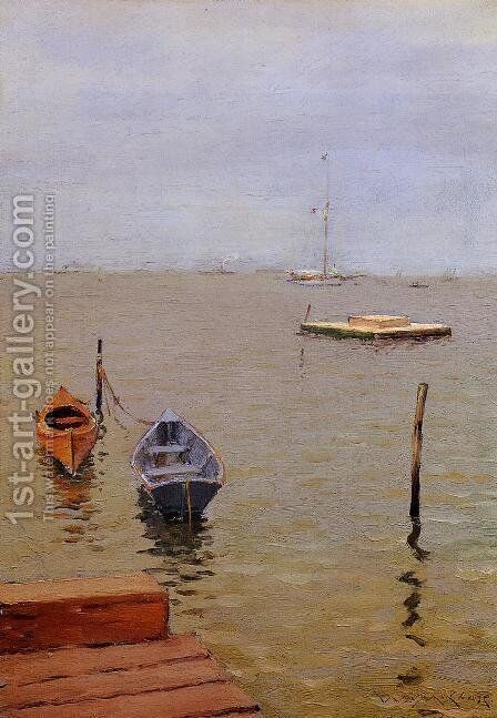 A Stormy Day, Bath Beach by William Merritt Chase - Reproduction Oil Painting