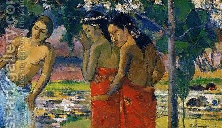 Three Tahitian Women I by Paul Gauguin - Reproduction Oil Painting