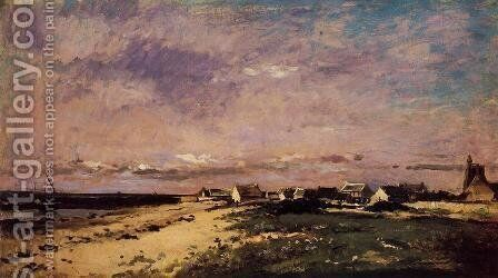 French Coastal Scene by Charles-Francois Daubigny - Reproduction Oil Painting