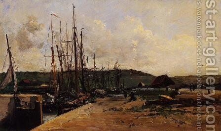 Fishing Port by Charles-Francois Daubigny - Reproduction Oil Painting