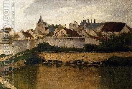 The Village, Auvers-sur-Oise by Charles-Francois Daubigny - Reproduction Oil Painting