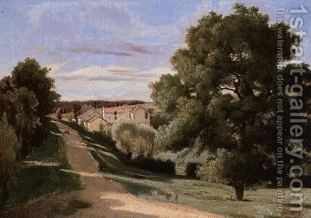 Little Chaville by Jean-Baptiste-Camille Corot - Reproduction Oil Painting