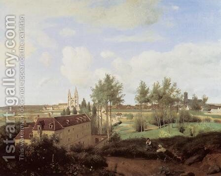 Soissons Seen from Mr. Henry's Factory by Jean-Baptiste-Camille Corot - Reproduction Oil Painting
