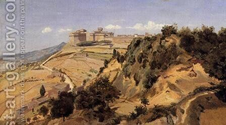 Voltarra - the Citadel by Jean-Baptiste-Camille Corot - Reproduction Oil Painting