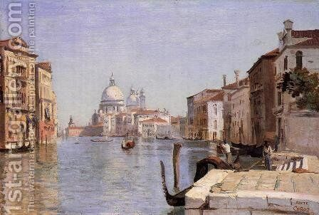 Venice - View of Campo della Carita from the Dome of the Salute by Jean-Baptiste-Camille Corot - Reproduction Oil Painting