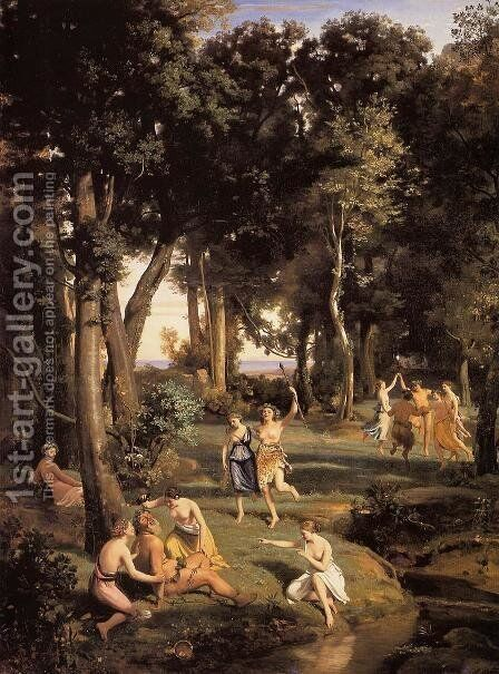 Silenus by Jean-Baptiste-Camille Corot - Reproduction Oil Painting