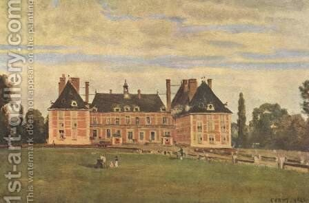 Chateau de Rosny by Jean-Baptiste-Camille Corot - Reproduction Oil Painting