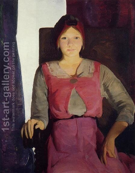 Garaldine Lee, No. 2 by George Wesley Bellows - Reproduction Oil Painting