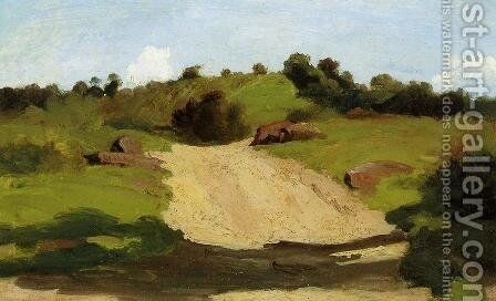 A Rising Path by Jean-Baptiste-Camille Corot - Reproduction Oil Painting