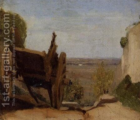 The Cart by Jean-Baptiste-Camille Corot - Reproduction Oil Painting