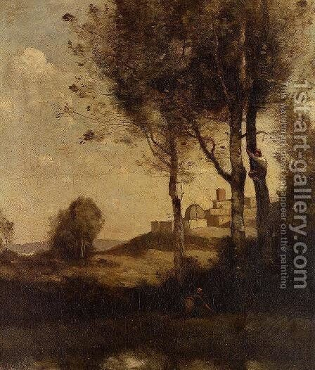 Tuscan Beaters by Jean-Baptiste-Camille Corot - Reproduction Oil Painting