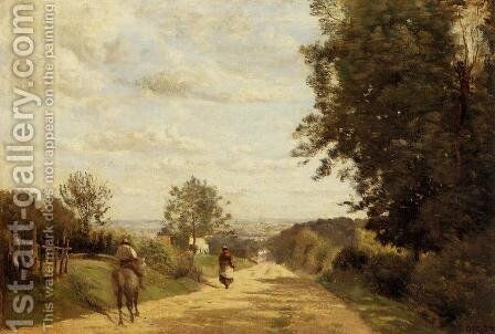 The Sevres Road by Jean-Baptiste-Camille Corot - Reproduction Oil Painting