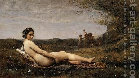 Repose by Jean-Baptiste-Camille Corot - Reproduction Oil Painting