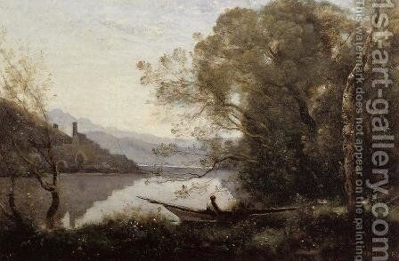 Souvenir of Italy I by Jean-Baptiste-Camille Corot - Reproduction Oil Painting