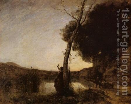 The Evening Star by Jean-Baptiste-Camille Corot - Reproduction Oil Painting