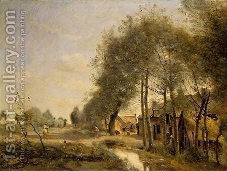 The Sin-le-Noble Road near Douai by Jean-Baptiste-Camille Corot - Reproduction Oil Painting