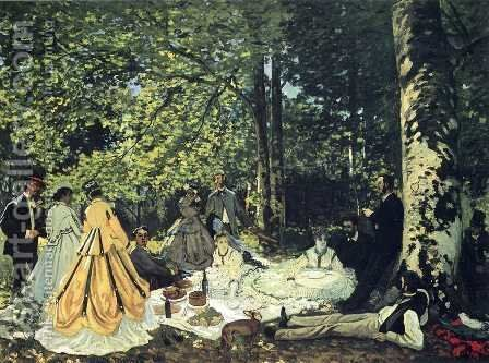 Luncheon on the Grass 2 by Claude Oscar Monet - Reproduction Oil Painting